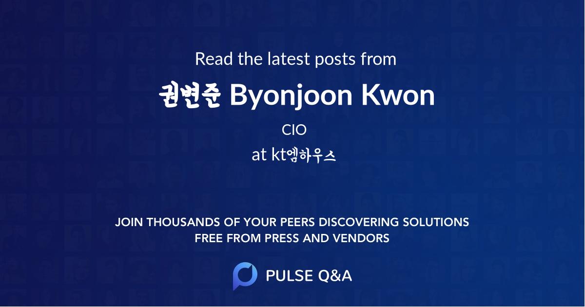 권변준 Byonjoon Kwon