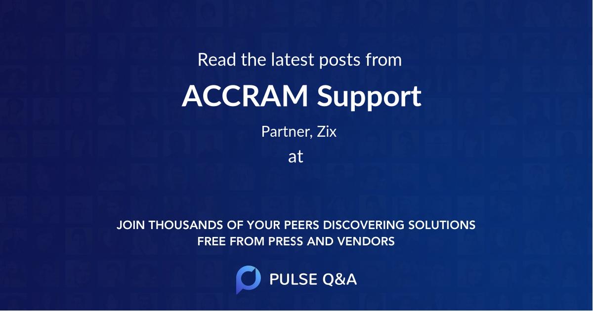 ACCRAM Support
