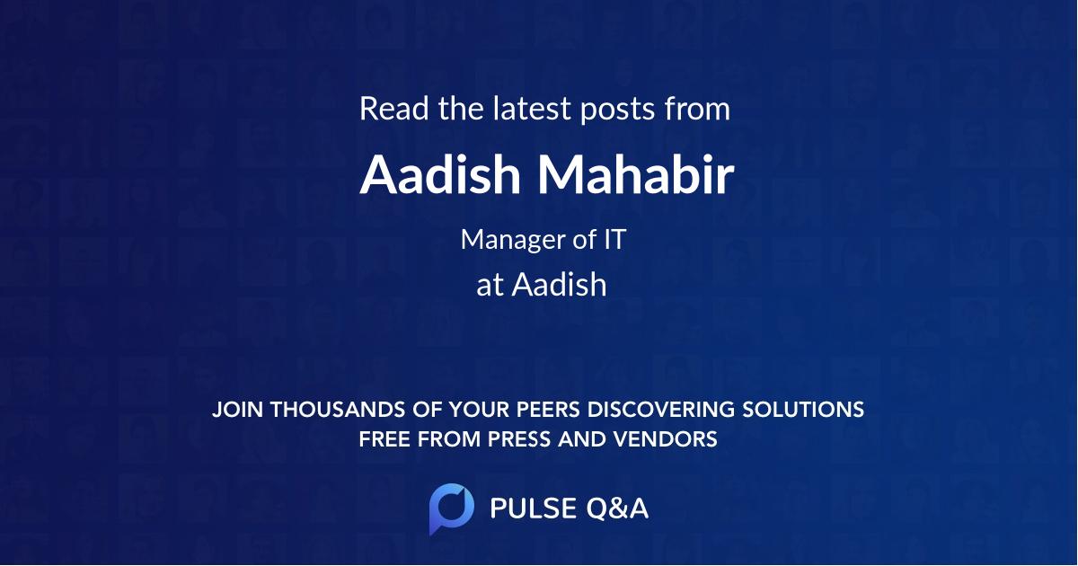 Aadish Mahabir