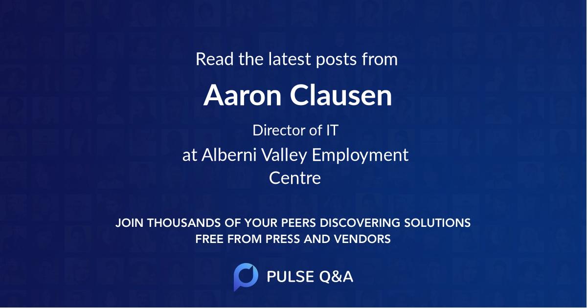 Aaron Clausen