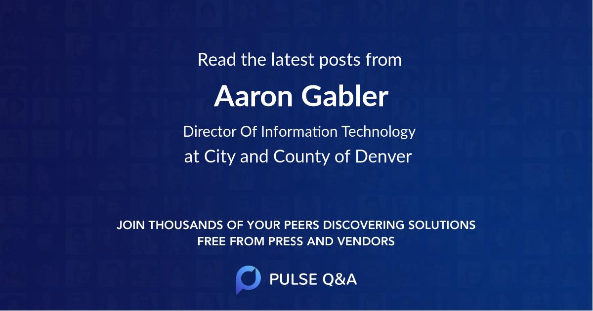 Aaron Gabler