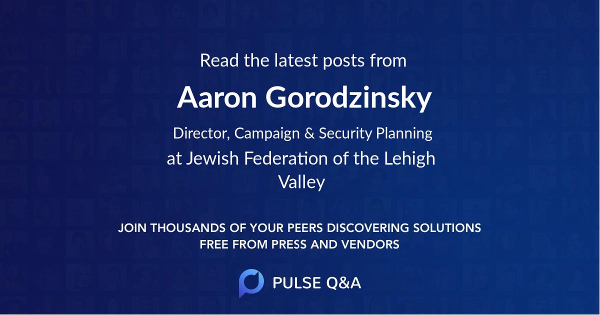 Aaron Gorodzinsky
