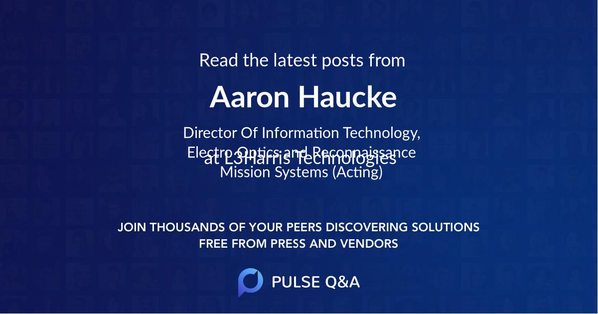 Aaron Haucke