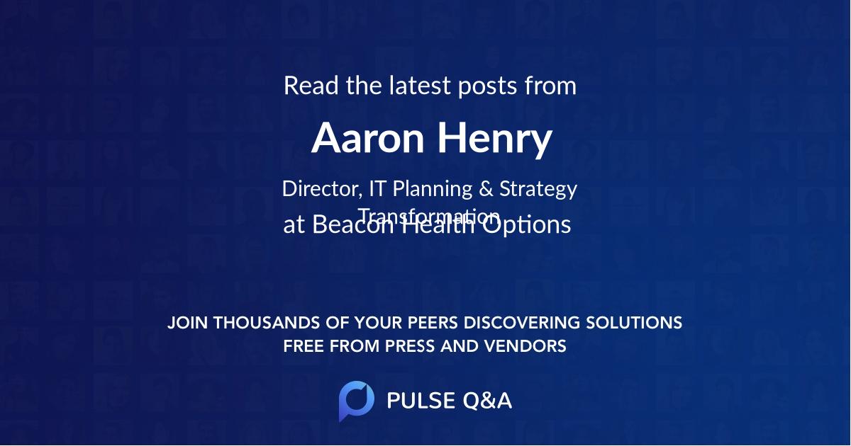 Aaron Henry