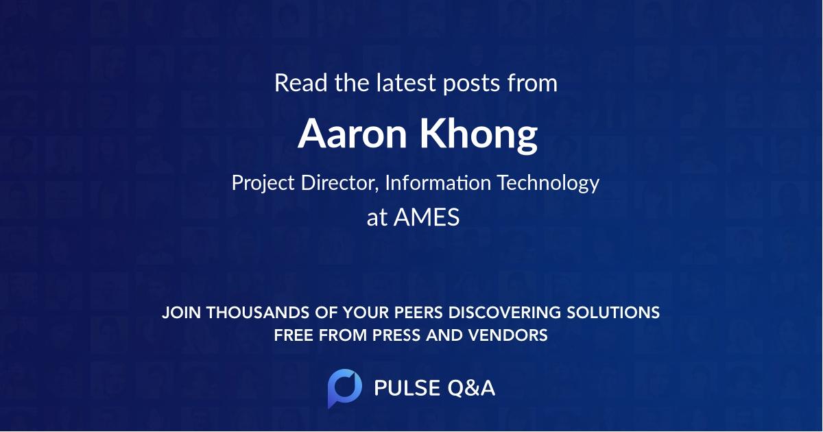 Aaron Khong