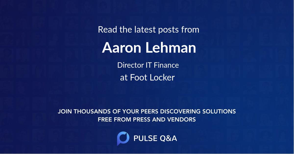 Aaron Lehman