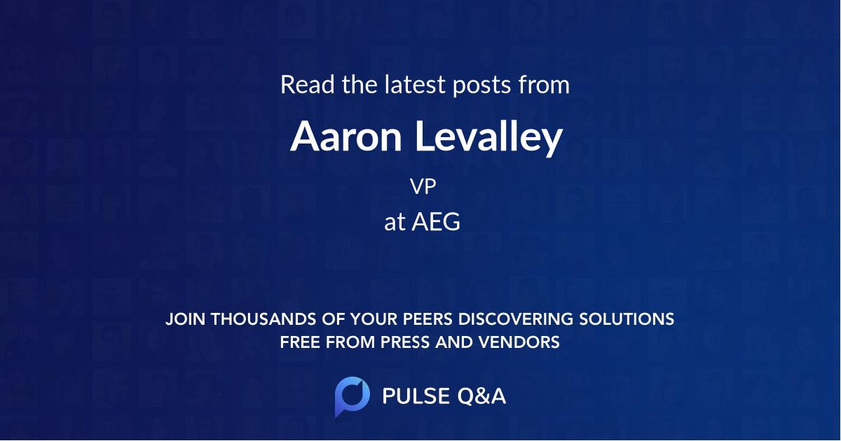 Aaron Levalley