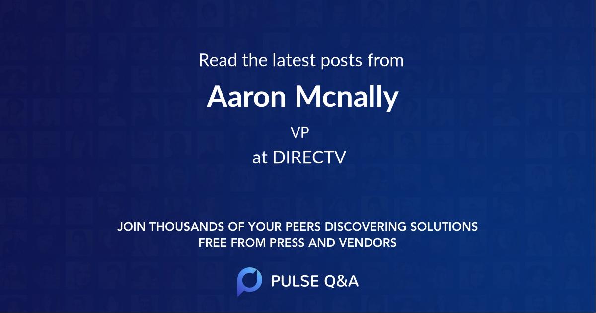 Aaron Mcnally