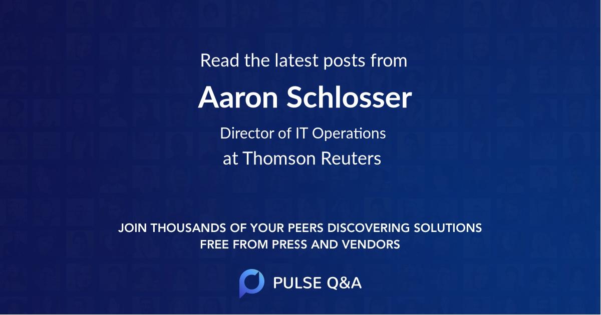 Aaron Schlosser