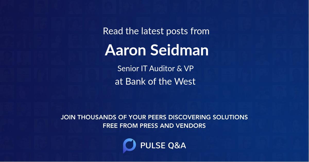 Aaron Seidman
