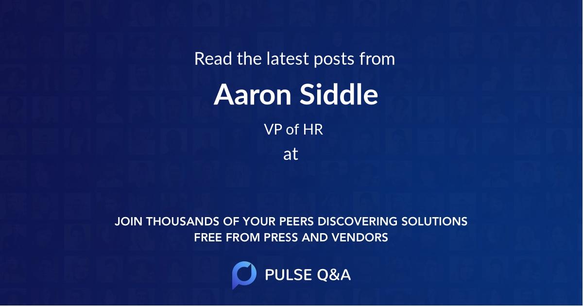 Aaron Siddle
