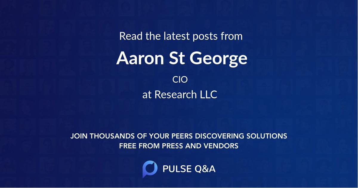 Aaron St. George