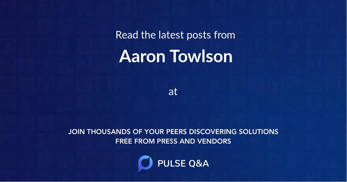 Aaron Towlson