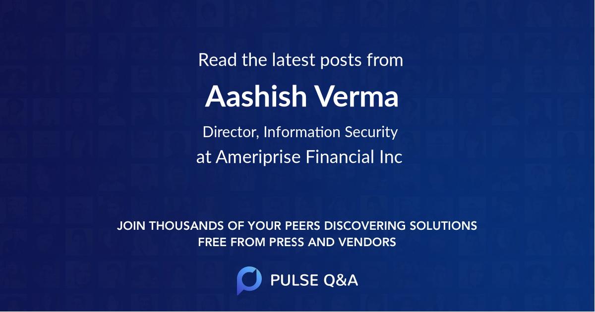 Aashish Verma