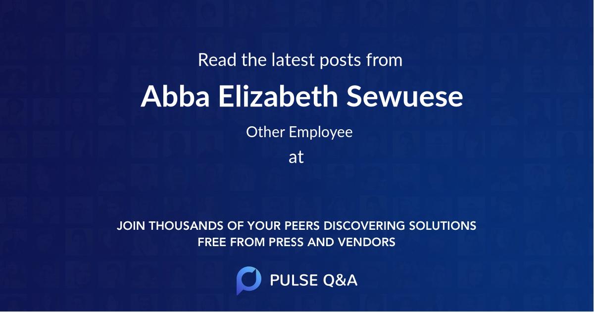 Abba Elizabeth Sewuese