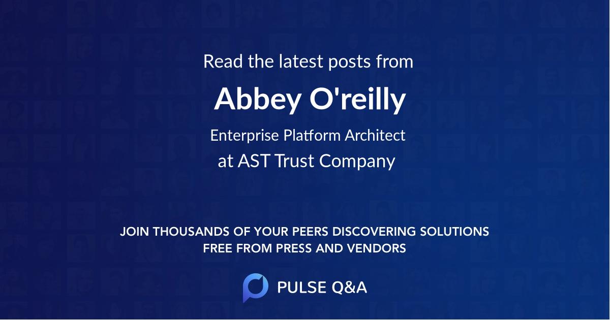 Abbey O'reilly