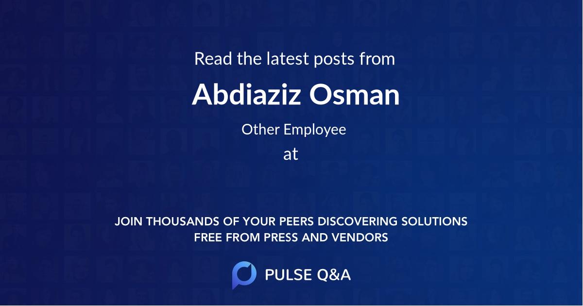 Abdiaziz Osman