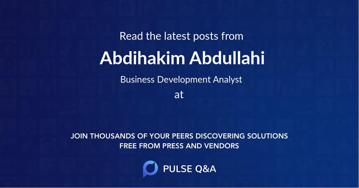 Abdihakim Abdullahi