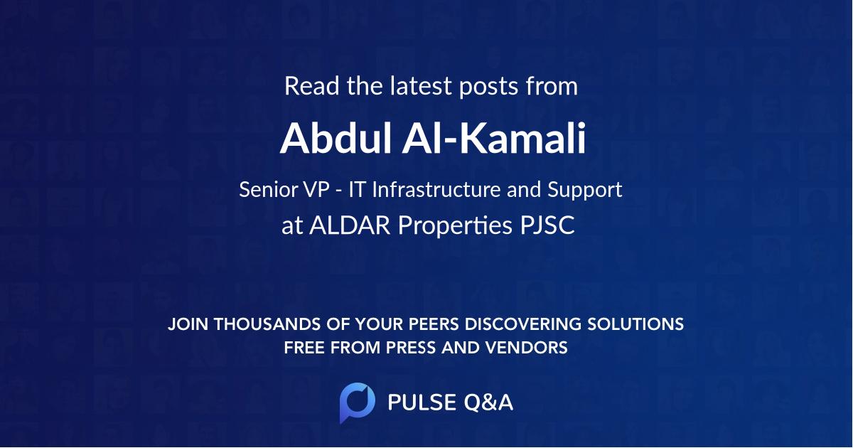 Abdul Al-Kamali