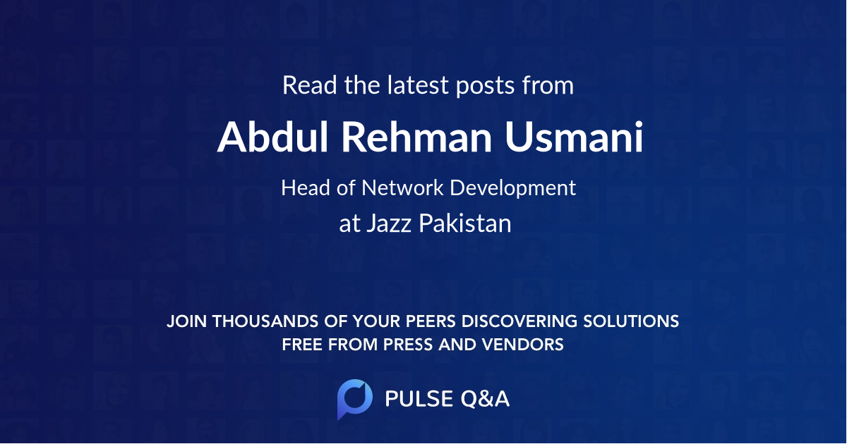 Abdul Rehman Usmani