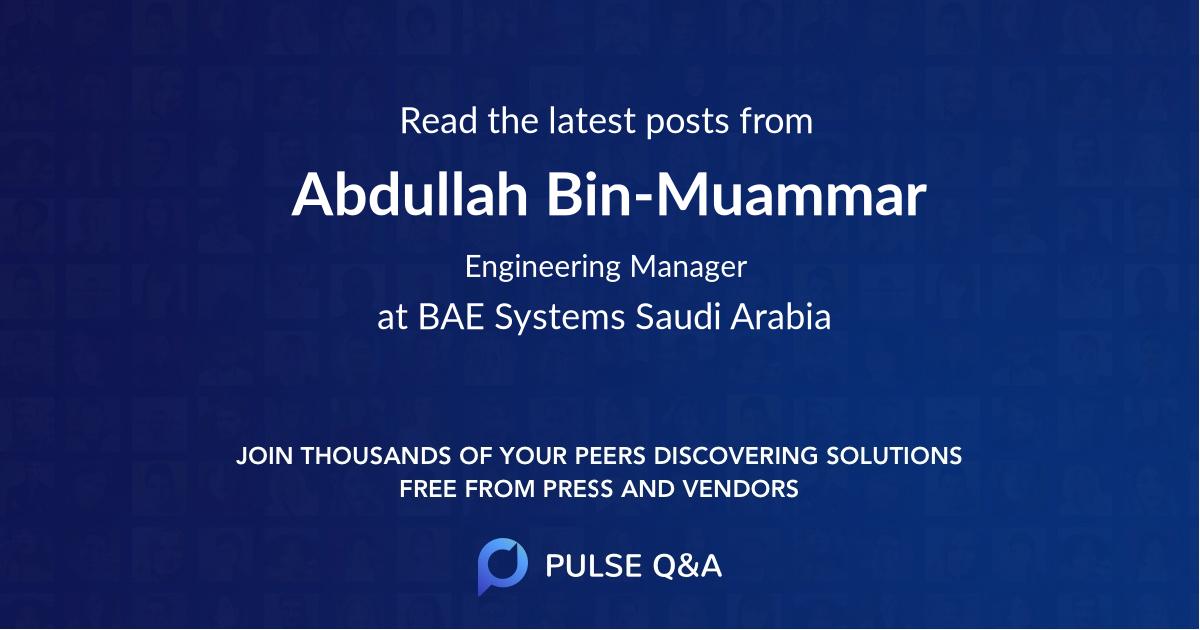 Abdullah Bin-Muammar