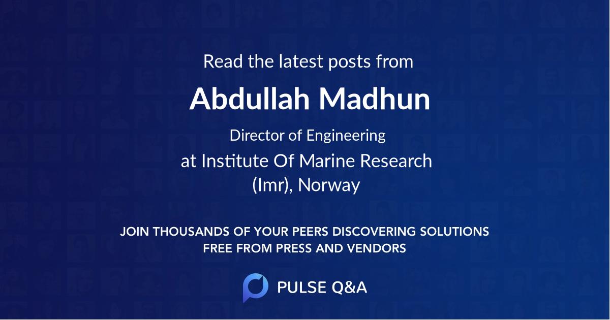 Abdullah Madhun