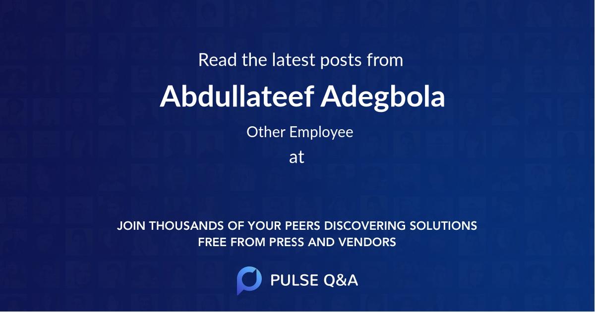 Abdullateef Adegbola