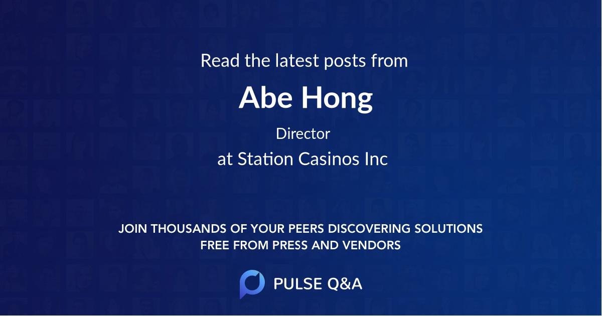 Abe Hong