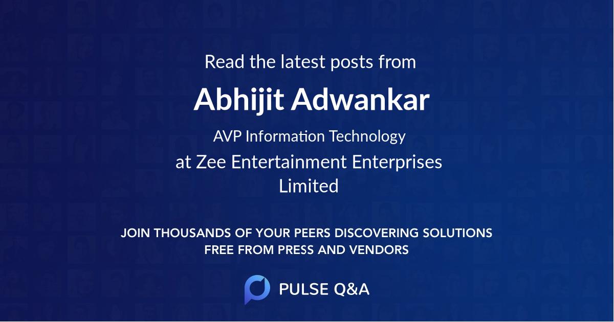 Abhijit Adwankar