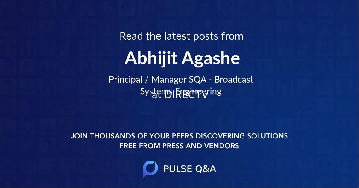 Abhijit Agashe