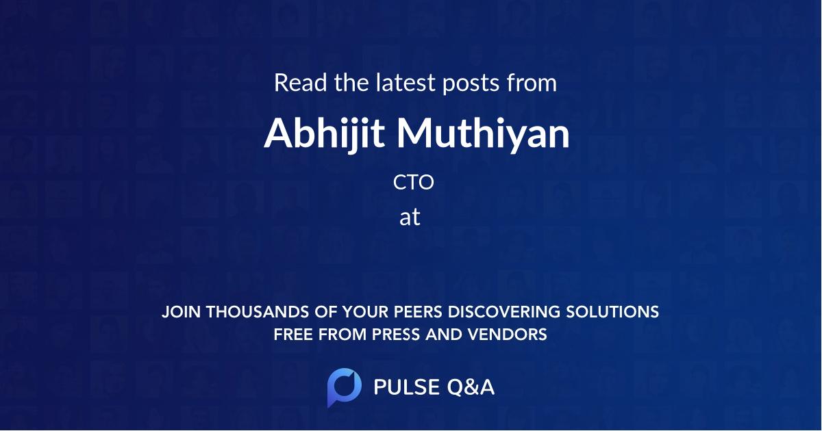 Abhijit Muthiyan