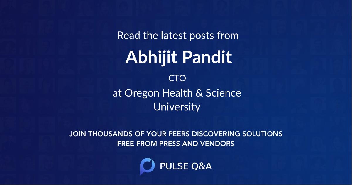 Abhijit Pandit
