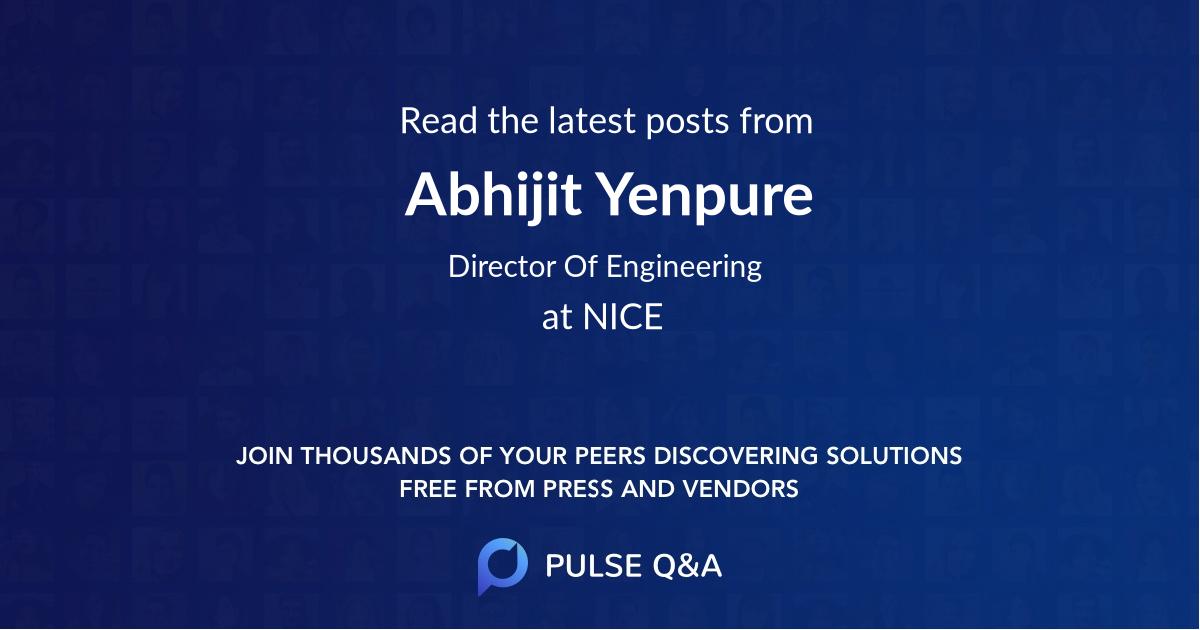 Abhijit Yenpure