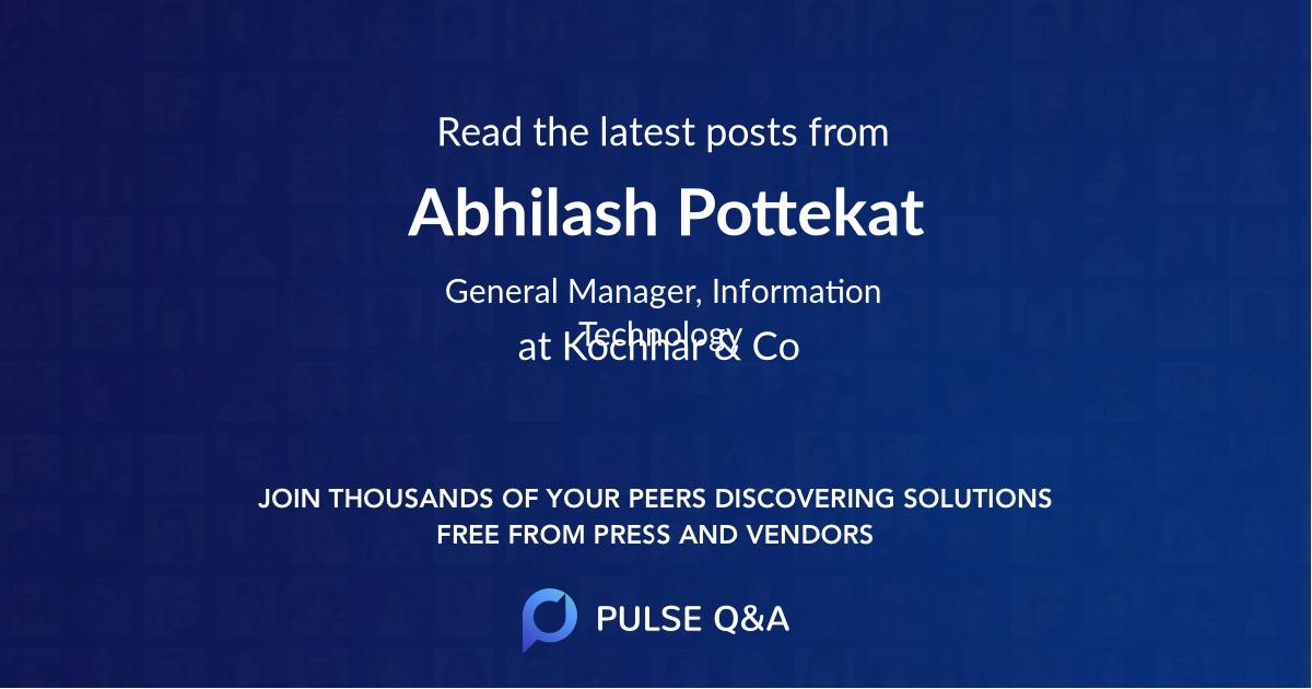 Abhilash Pottekat