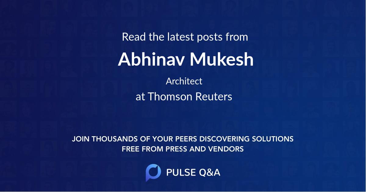 Abhinav Mukesh
