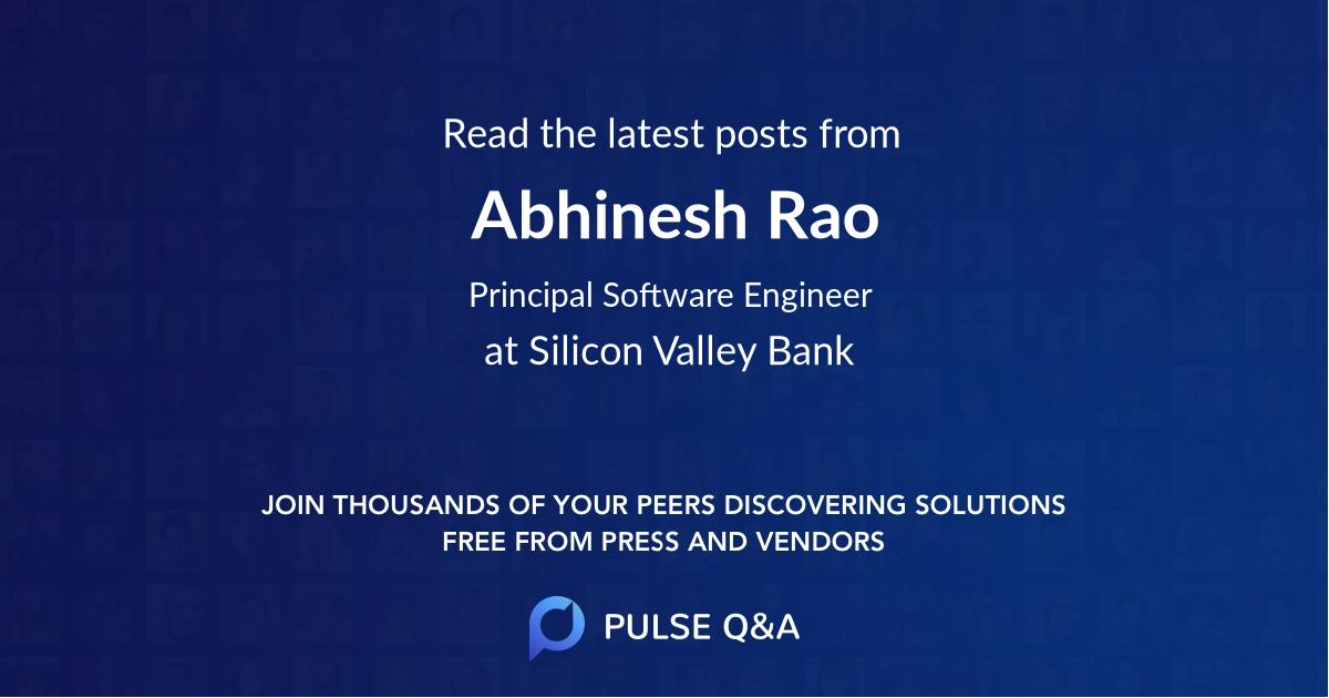 Abhinesh Rao