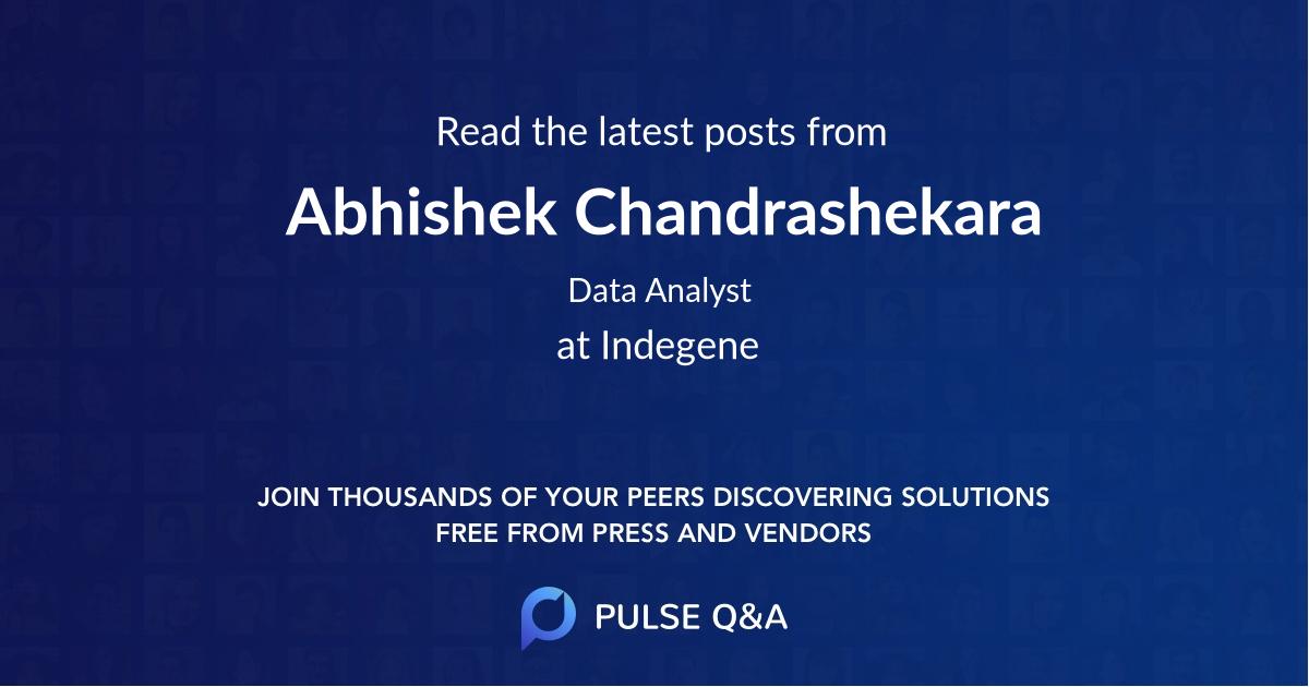 Abhishek Chandrashekara