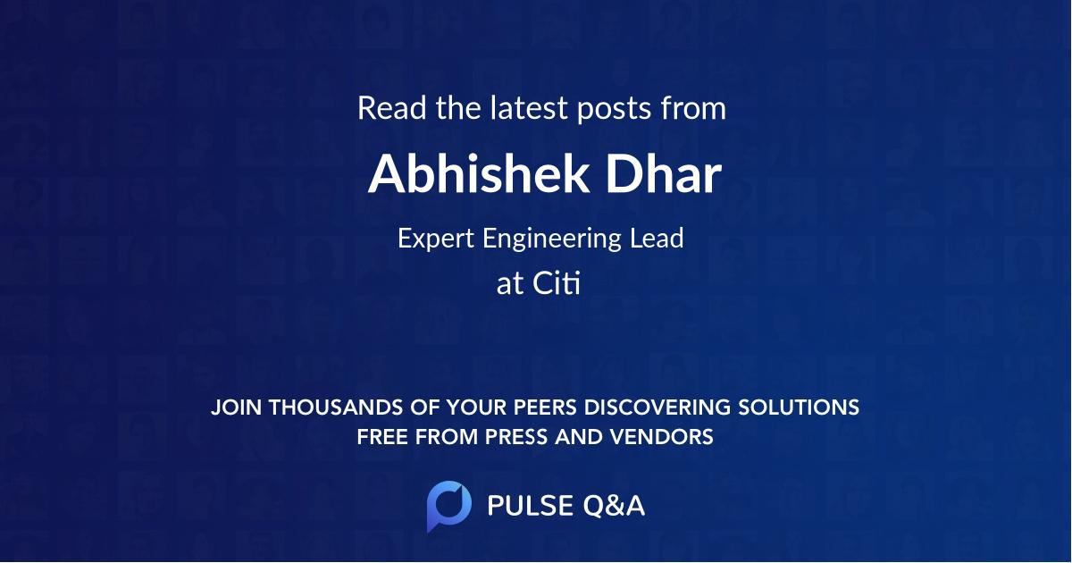Abhishek Dhar