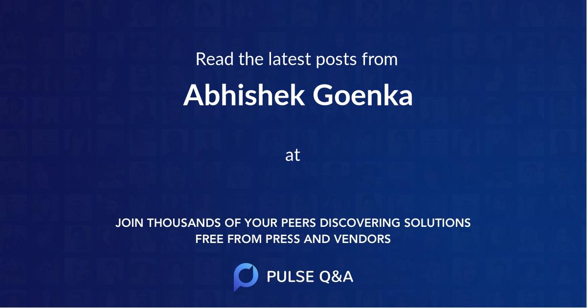Abhishek Goenka
