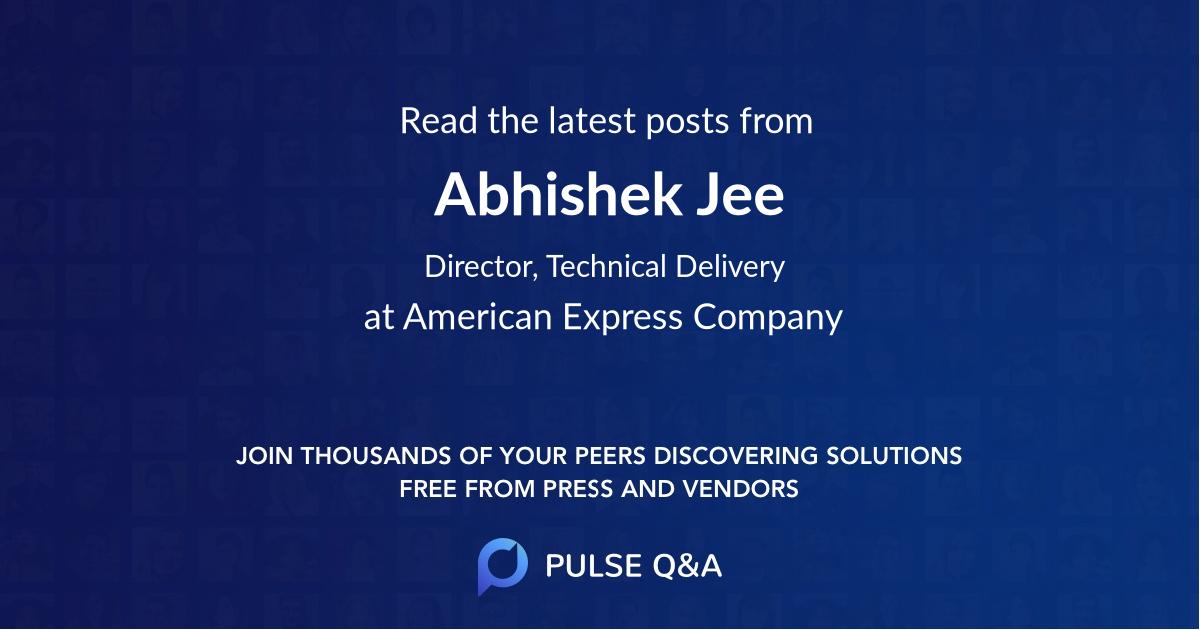 Abhishek Jee