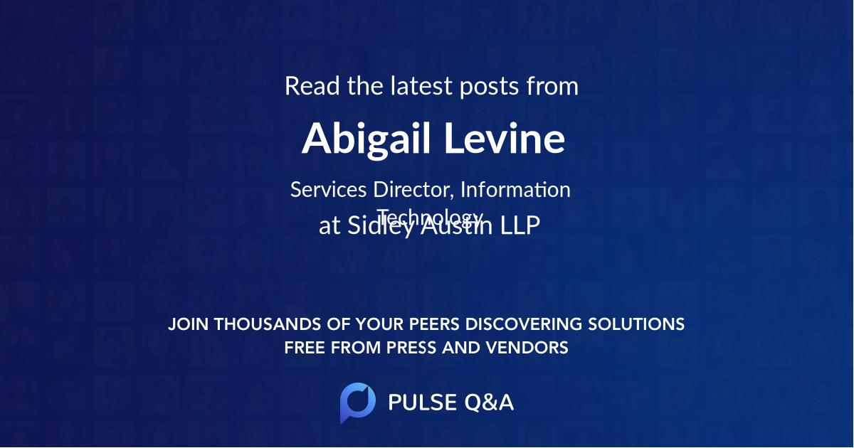 Abigail Levine