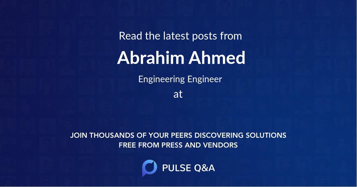 Abrahim Ahmed