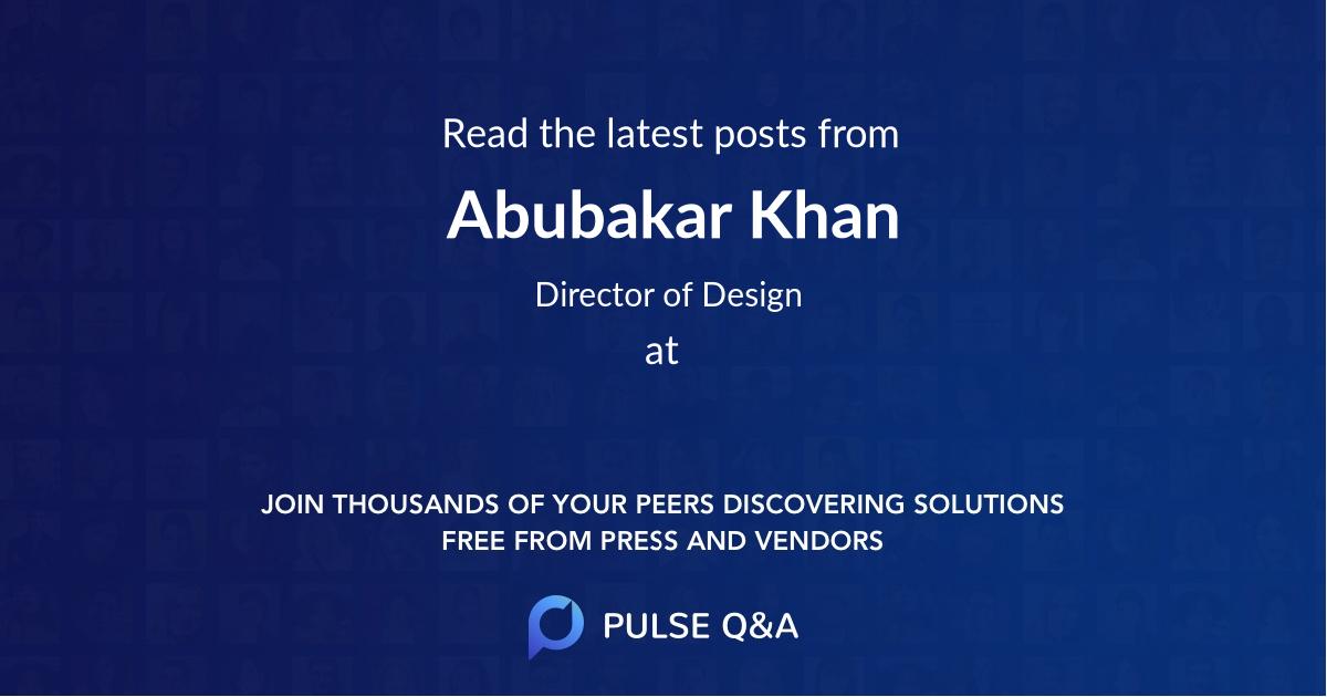 Abubakar Khan