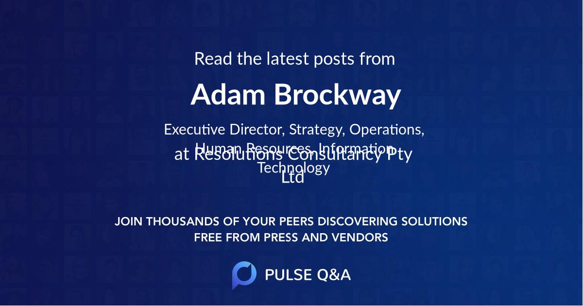 Adam Brockway
