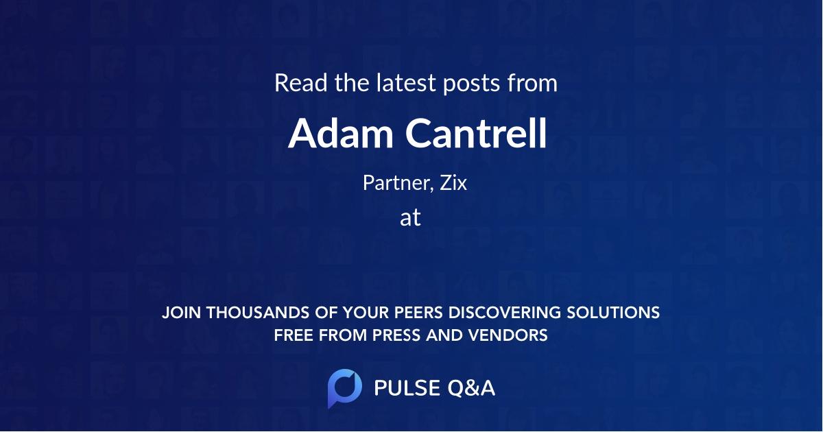 Adam Cantrell