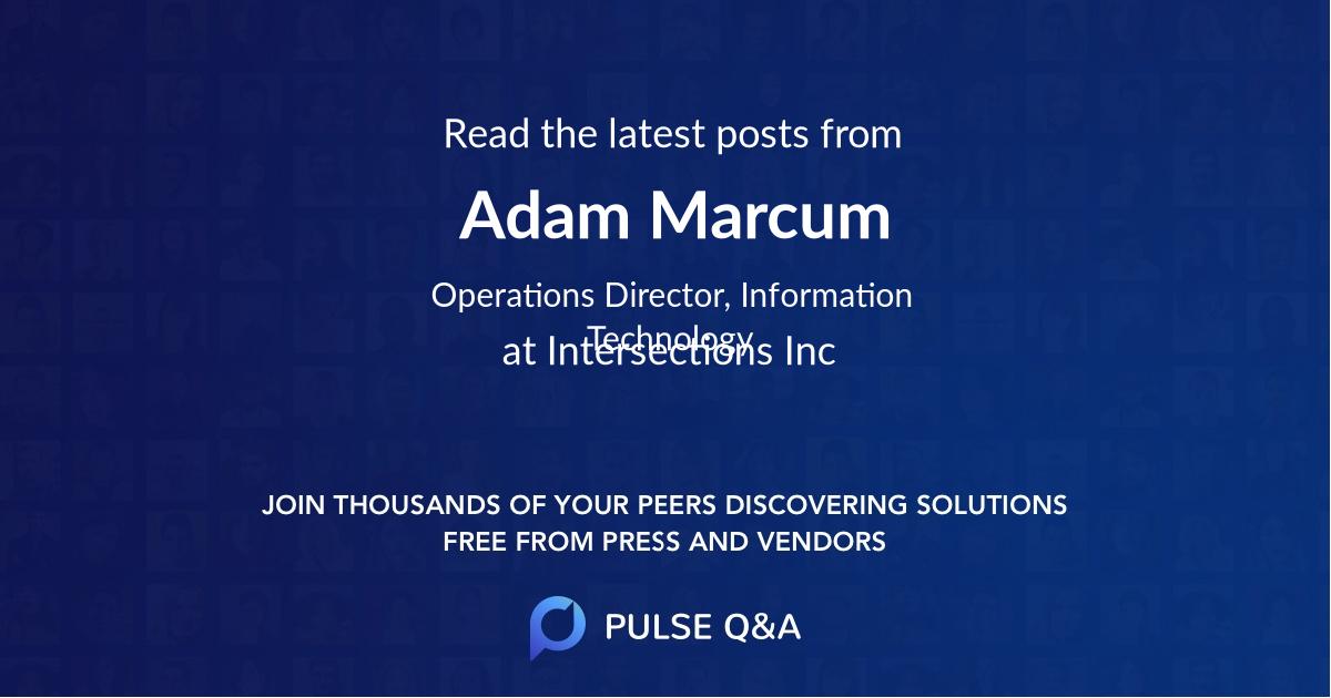 Adam Marcum