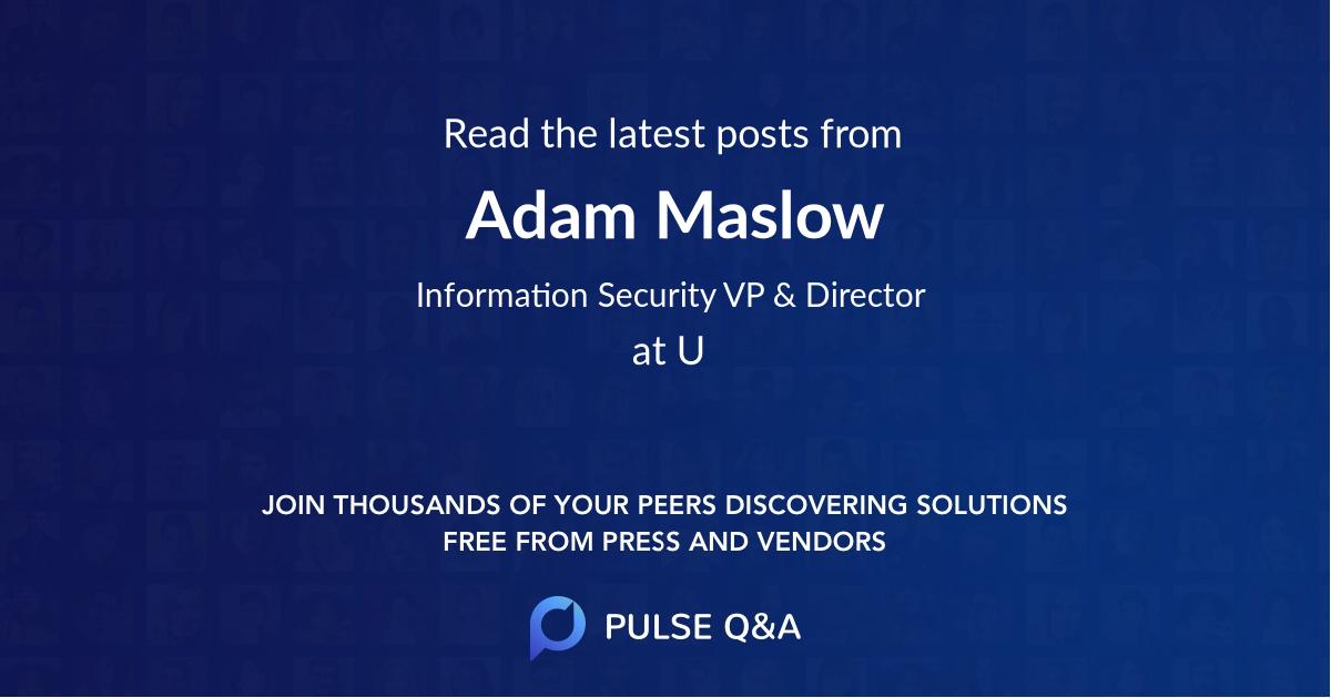 Adam Maslow
