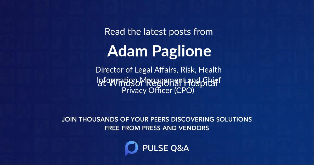 Adam Paglione