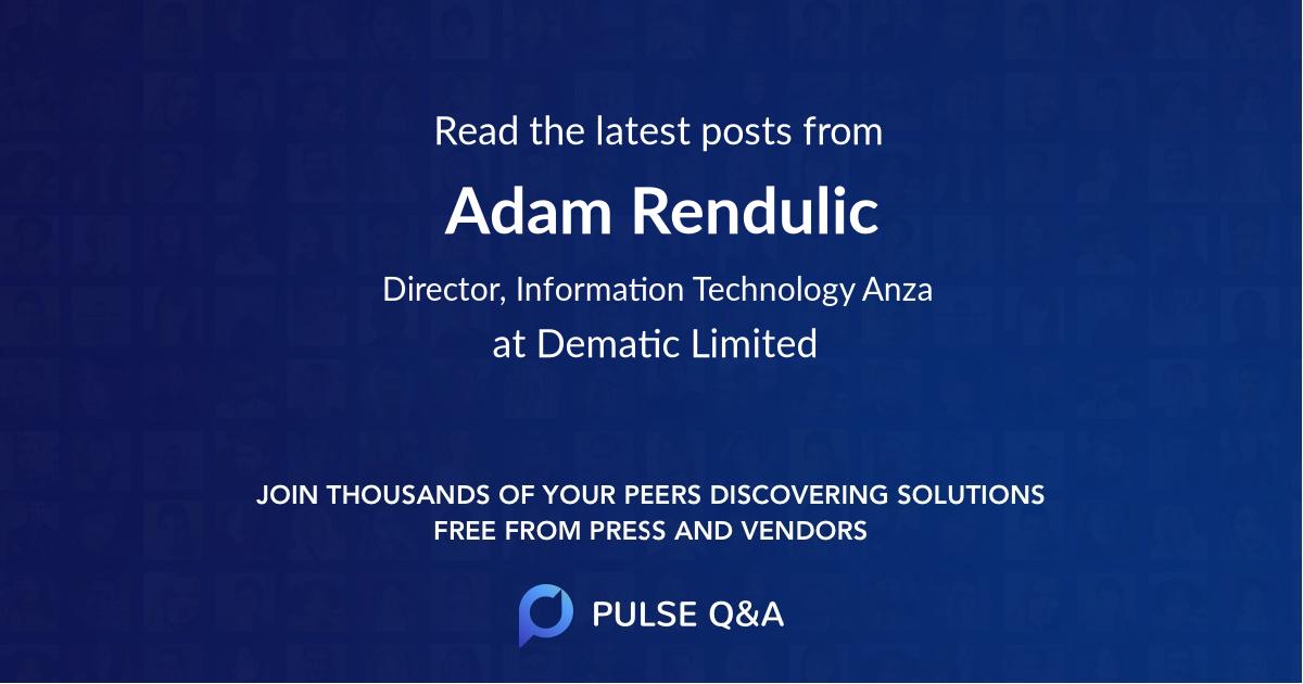 Adam Rendulic
