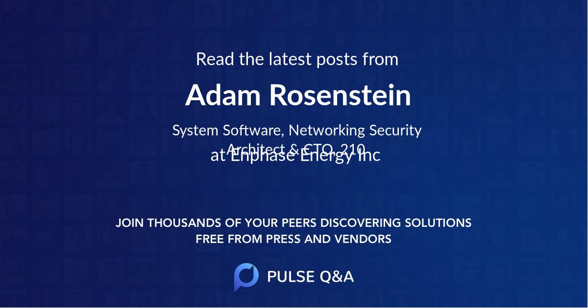 Adam Rosenstein